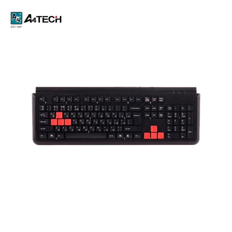 цена Keyboard A4Tech X7-G300 Black Officeacc gaming онлайн в 2017 году