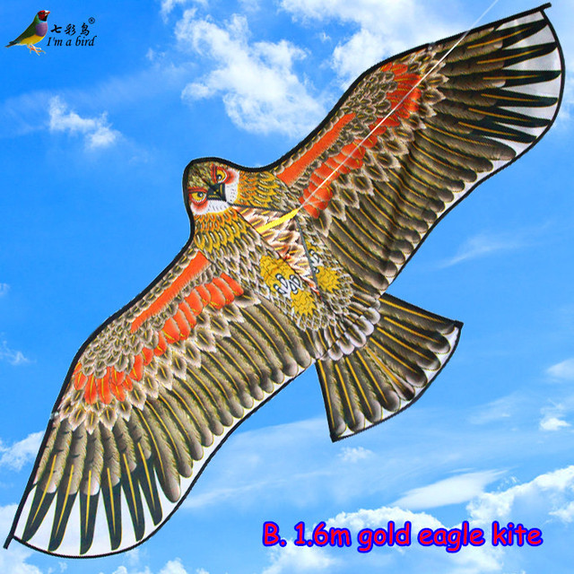 Free Shipping Outdoor Sports High Quality 1.5m Eagle Kite With Handle and 30m Line Easy Control Flying 100% Original Factory
