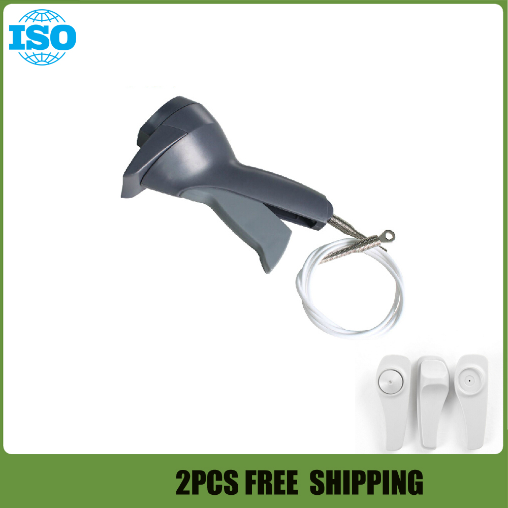 2pcs Retail anti theft tag detacher,AM 58Khz handheld detacher eas,gun detacher for super security tag free shipping