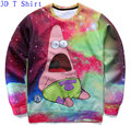 New 2016 Autumn Winter Women/Men Cartoon Adventure Time Design Crewneck  Galaxy Space Print 3D Hoodies Fashion Sweatshirts Tops
