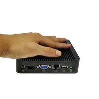 Düşük satış için ubuntu mini pc mikro pc fansız pc iş bilgisayar akıllı boyutu pc, 4G RAM, 256G SSD, Qotom-Q100N