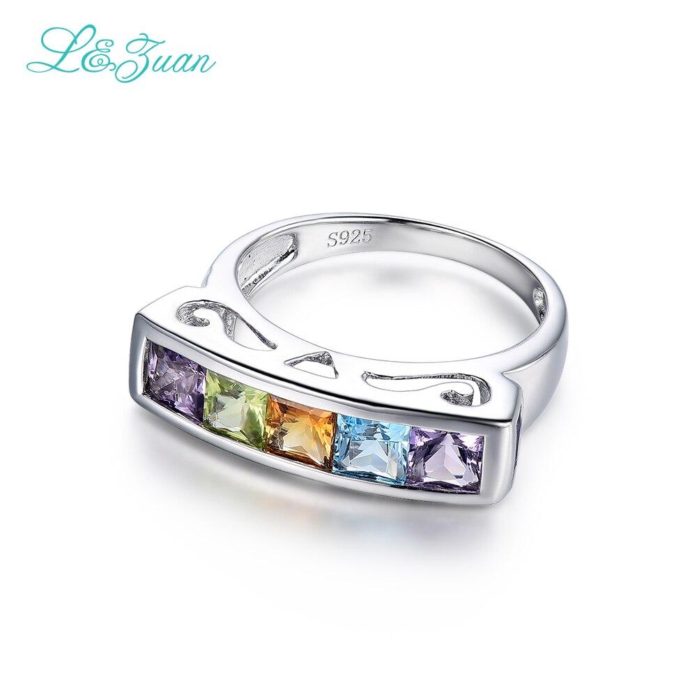 I & Zuan Edlen Schmuck 925 Sterling Silber Ring Natürlichen Amethyst - Edlen Schmuck - Foto 4