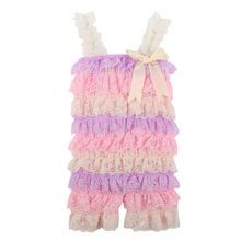 Contton Blends Romper Skirt Fashion Beautiful Baby Girl Lace Posh Petti Ruffle Romper Skirt Strap 0-3years(China)