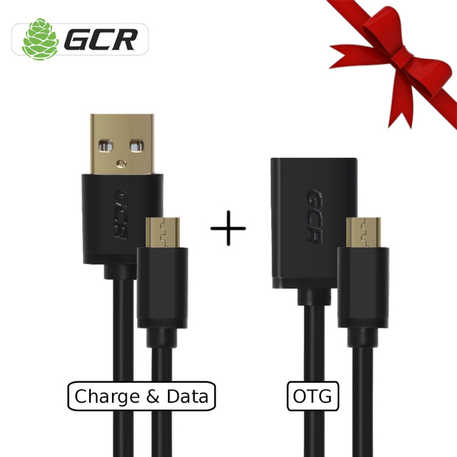 Greenconnect GCR bundle micro usb 2.0 cable data charge otg adapter sync cable bundle for smartphone tablet laptop flash drive