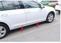 Steel Body Door Side Molding Trim Chrome For VW GOLF 7 MK7 5door 2013 2014