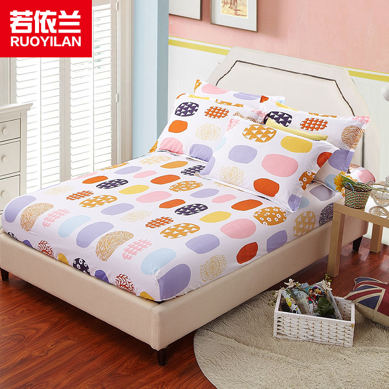 A Piece Soft Fitted Bed Sheet 1.2m 1.5m 1.8m Single Double Home Bedding Sheet for Adults
