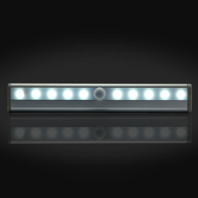 10 Led Motion Sensor Light Indoor Magnetic Wardrobe Pathway Bedroom Night Lights Lamps Wireless Emergency Lighting