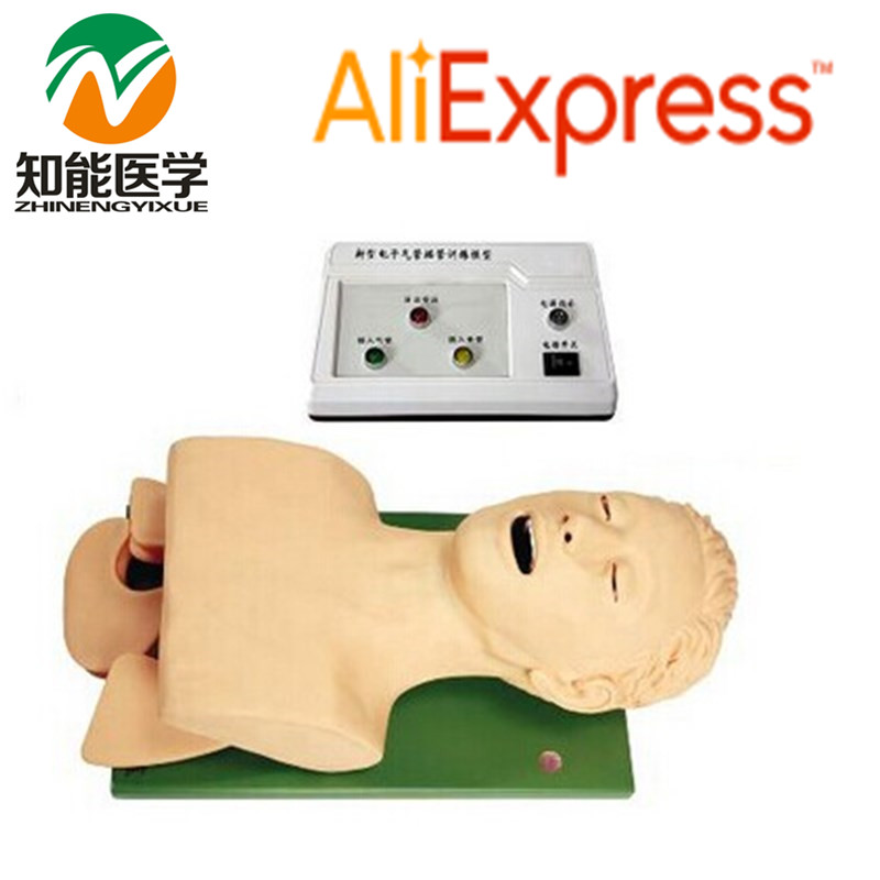 BIX-J5S Advanced Electronic Airway Intubation Medical Training Model WBW106 iso economic newborn baby intubation training model intubation trainer