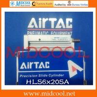 Оригинальный Airtac компактный Презентация цилиндр (подшипник) серии HLS HLS6x20SA