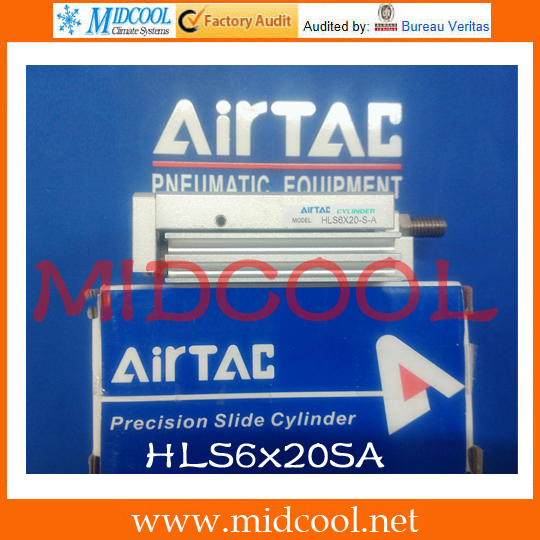 Original AirTAC Compact slide cylinder(Roller bearing) HLS Series HLS6x20SA original airtac compact cylinder ace series ace100x30