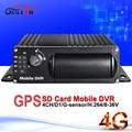 4G network vehicle mobile dvr realtime surveillance mobile digital video recorder with GPS G-Sensor I/O PC/Mdvr monitor playback