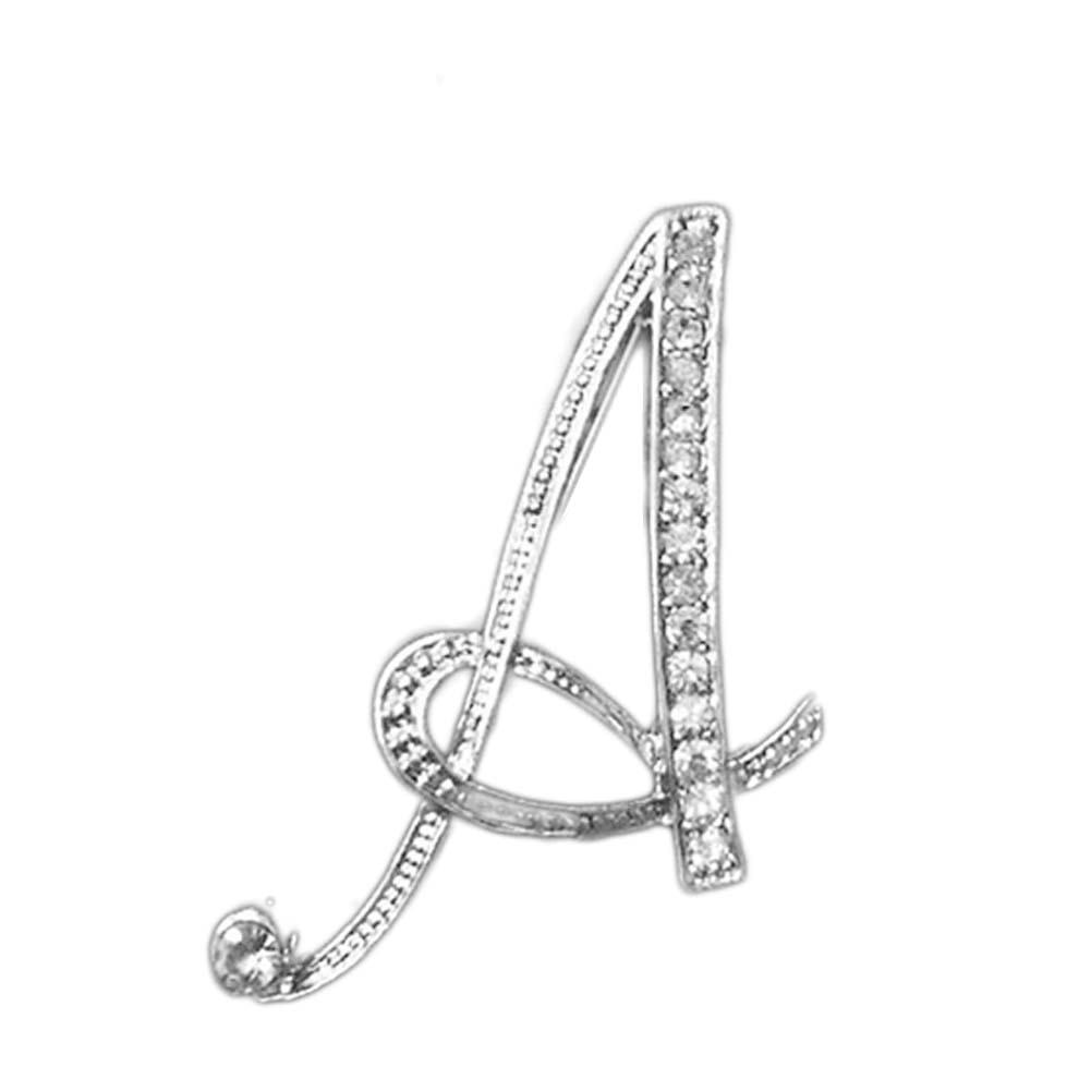 1 предмет от A до Z 26 букв Дизайн Броши Шпильки английский письмо личность Броши с кристаллами