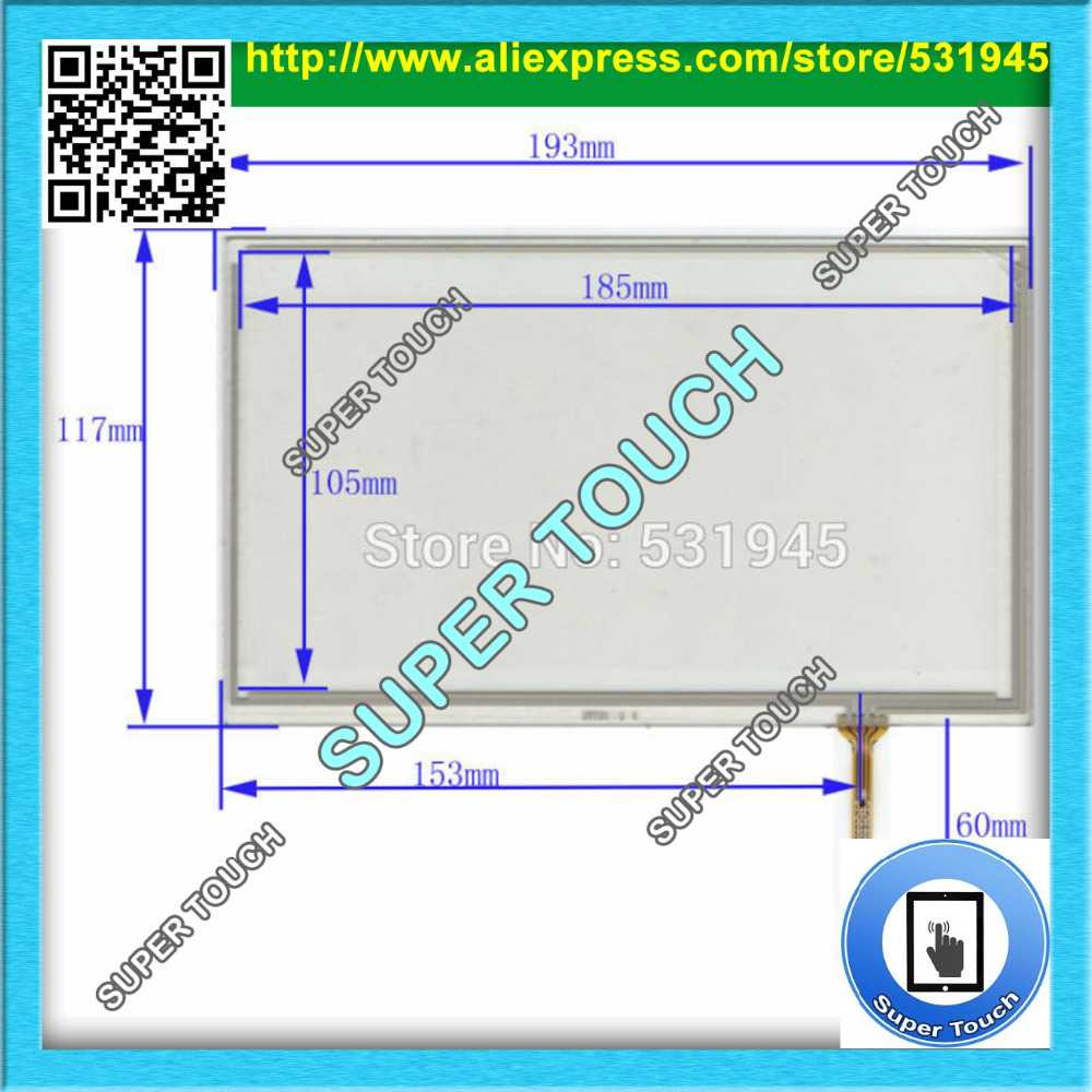 AntiStatic Sheld.Bag POST 8 inch 4-wire resistive Touch Panel XWT90 193*117 Navigator TOUCH SCREEN 193mm*117mm GLASS LCD display  цены