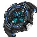 SANDA289 Reloj Grande Del Dial Hombres G Estilo de Choque Impermeable LED Relojes Deportivos Militar de Cuarzo Analógico Digital reloj del relogio masculino