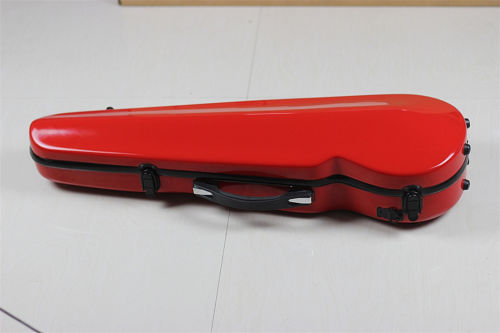 New High Quality Violin Fiddle 4/4 Full Size RED Fiber Glass Case Bag With Bow Holders & Straps Parts Accessories