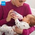 MAM Sentirse Bien la Botella de Cristal 260 ml Botella de Leche de Alimentación infantil 2-5 meses niños taza infantil botella de enfermera Material de Envío Libre