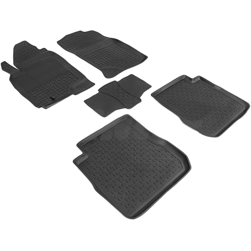 цена на Rubber floor mats for Mitsubishi Outlander I 2003 2004 2005 2006 2007 2008 Seintex 85713