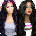 Cheap price Wavy Full Lace wigs for black women 150 density Brazilian hair 8A grade Lace Front human hair wigs with baby hair