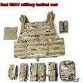 Real RBAV military tactical vest PC light 1000D Oxford cloth MOLLE carrier combat vest suit gilet militaire colete taticomilitar