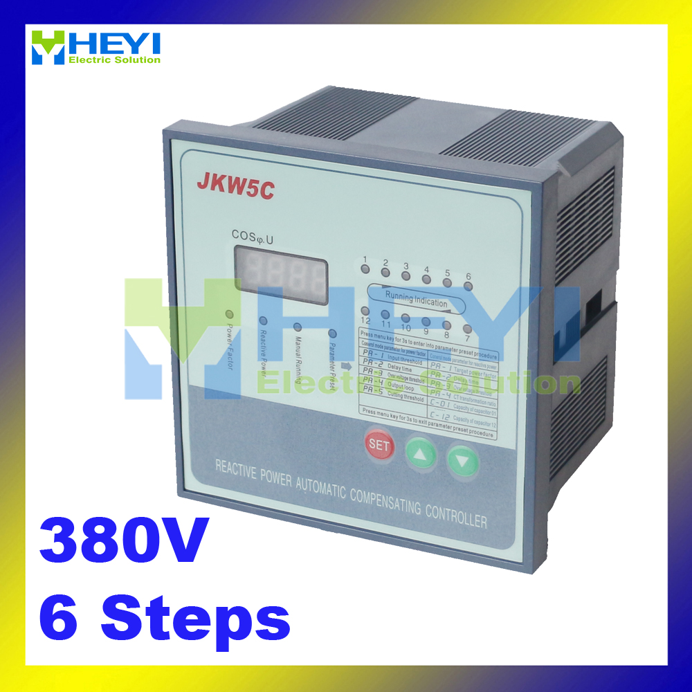 ФОТО JKW5C Reactive power compensation controller for power factor capacitor 6steps 380v cos power