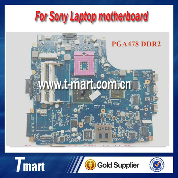 100% Original laptop motherboard FOR SONY VGN-NW A1747079A MBX-217 1P-0096501-8010 PGA478 DDR2 Fully tested