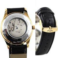 полный золота наручные часы автоматические механические дата бесплатная доставка