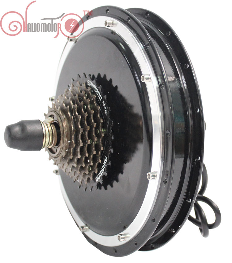 RisunMotor Electric Bicycle Hub Motor 36V 48V 1500W Ebike Rear Wheel 145mm Brushless Gearless 7 Speed For Conversion Motor Kits high speed 24v 36v 48v 350w ebike brushless gearless mini hub motor rear wheel with 7 speed gear hub dropout 135mm
