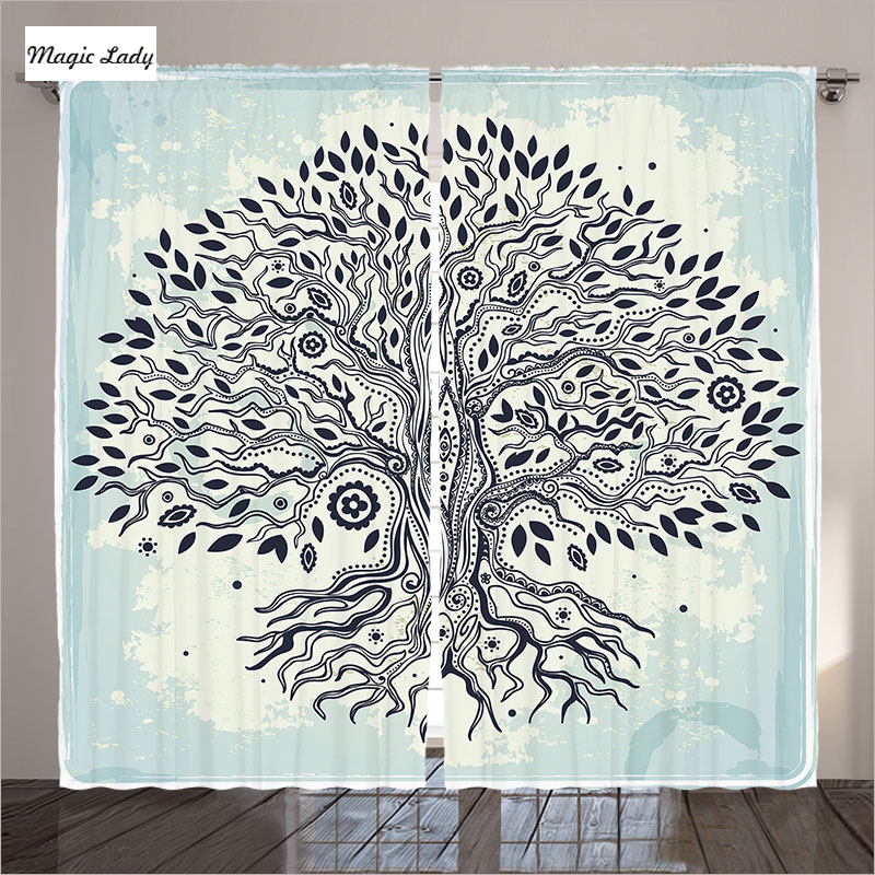 Curtains turquoise living room bedroom tree flowers indian - Curtain ideas for living room india ...