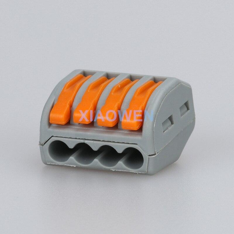 Wago stecker 100 stücke PCT 214spring hebel drücken fit kabel 4 ...
