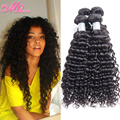 MS Here 7A Indian Curly Virgin Hair Deep Wave Unprocessed Human Hair Indian Deep Curly Raw Indian Hair Curly Hair Weft 4 Bundles