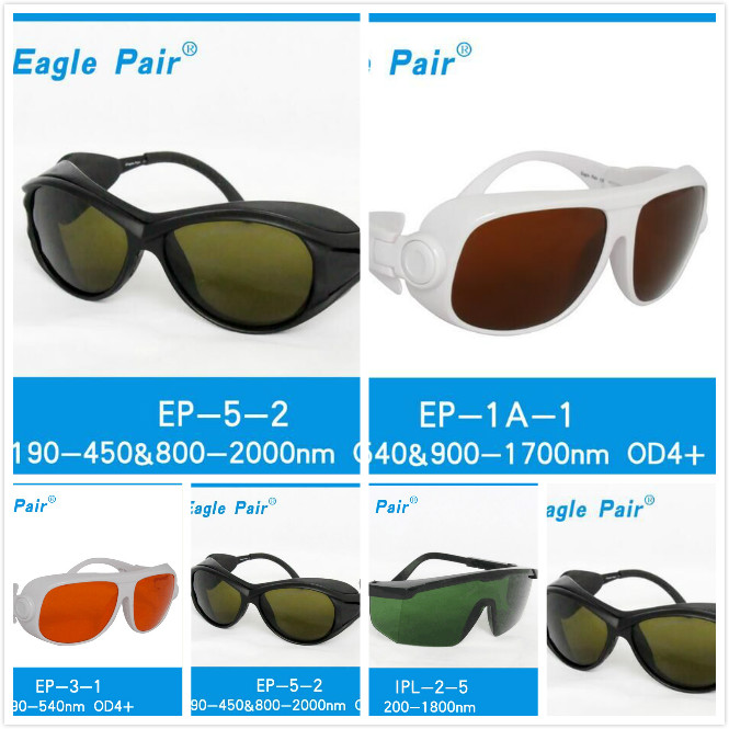 OD 4+  long spectrum wavelength filter glasses ipl protective goggles