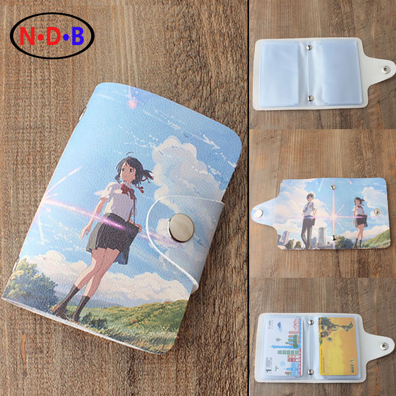 (Card & ID Holders)New pattern Comic Card package Male and female students Your name Cover printing birthday gift card package