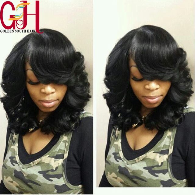 150D Short Body Wave U Part Wig Human Hair