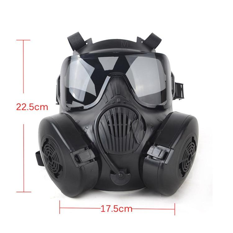 Tactial M50 Airsoft masque adultes Paintball visage complet crâne gaz CS masque avec ventilateur livraison gratuite