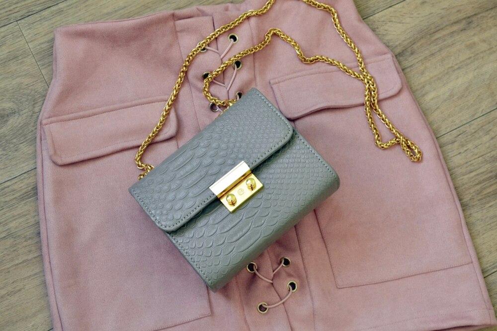Мини-сумочка с золотой фурнитурой с Алиэкспресс