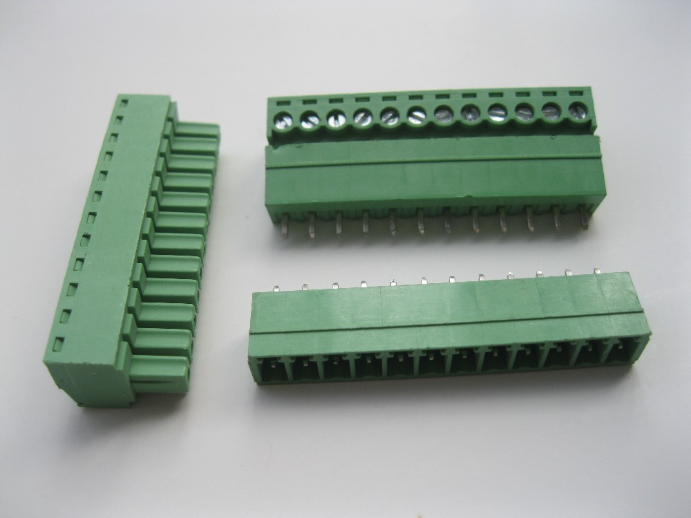 150 шт. в партии винтовой клеммный блок разъем 3,5 мм 12 способ/pin Зеленый подключаемый тип высокое качество Лидер продаж
