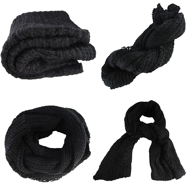 Mujeres de lana de punto bufandas pañuelo de cuello estilo de moda ...