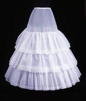 оптовая продажа - бесплатная доставка 2011 белый 3 слоя hoopless объем нижняя юбка нижняя кринолайн