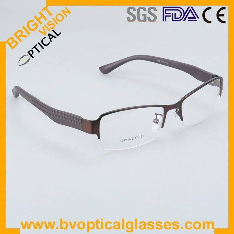 2299kahkiside Factrory price half rim vintage optical frames eyewear glasses