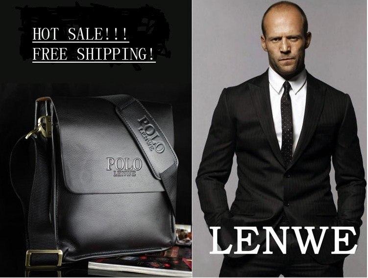 2013 Fashion Men Shoulder Bag Men Genuine Leather Messenger Bag