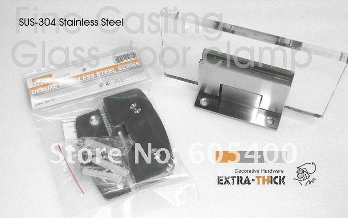 Гарантия качества 304 нержавеющая сталь ванная комната стеклянная дверная петля GS-Y90A-SSfine светильник