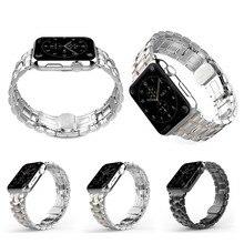 Высокое качество новые пять ссылки прочной нержавеющей стали часы с классической пряжкой для Apple , часы 38 мм 42 мм