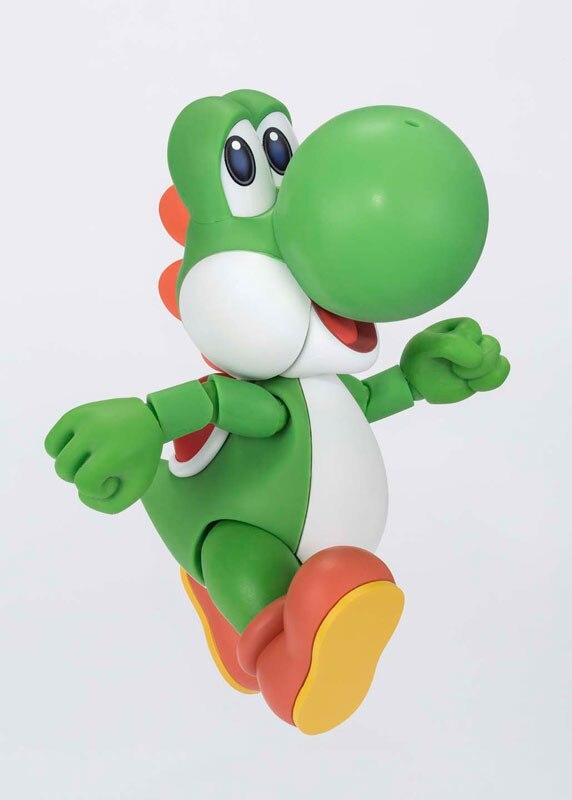 100% Оригинальные Bandai Tamashii Наций S. h. figuarts (СВЧ) фигурку-Йоши от Super Mario World