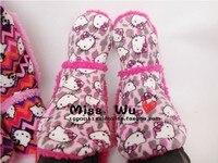 зима теплая и на дому женские хлопчатобумажные ботинки привет котенок с крытый одежда тапочки снегоступы для гриль женская обувь