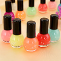 Hot sell 12 Candy Colors Glow The Dark Luminous Fluorescent Nail Art Polish Enamel New Arrived Promotion