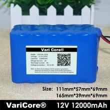 Varicore большой емкости 12v12ah 18650 литиевая батарея охраны доска 12.6 млн. 10000ma емкость dc: 5.5*2.1 мм
