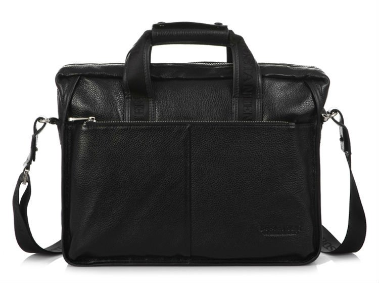 Мода, мужская сумка из натуральной воловьей кожи, сумка через плечо, мужская кожаная сумка на плечо, повседневная сумка, коричневая, Черная