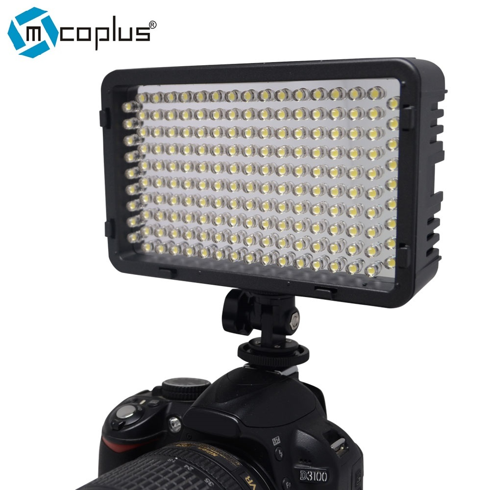 Mcoplus 168pcs LED font b Video b font Light On Camera Photographic Photography Lighting for Canon