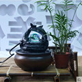 Free shipping Water fountain waterscape decoration round lucky feng shui and home decoration