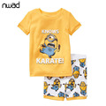 2017 Designer Kids Boys Minions Pajamas Set Despicable Me Children Character Summer Pyjamas Clothing Set for Baby Boys CF211